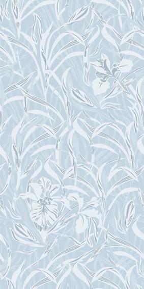 Панель ПВХ для отделки балкона Де Квадро орхидея голубая 0114/2