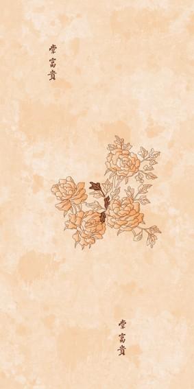 Панель ПВХ для отделки балкона Цветы Азии 9002/3