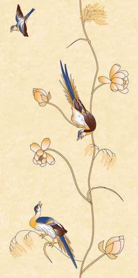 Панель ПВХ для отделки балкона Цветы Азии 9005/1