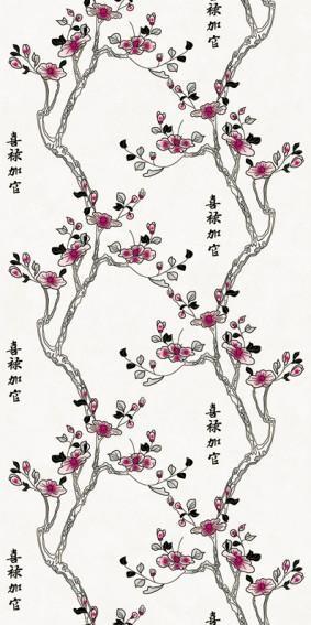 Панель ПВХ для отделки балкона Цветы Азии 9008/1