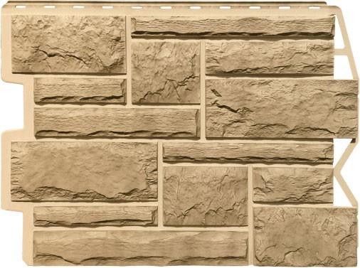 Панель для отделки балконов: бут золотой песок