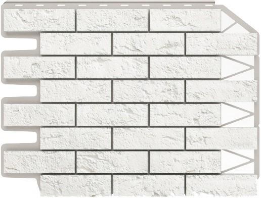 Панель для отделки балконов: кирпич белый