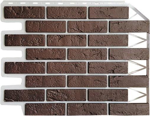 Панель для отделки балконов: кирпич темно-коричневый