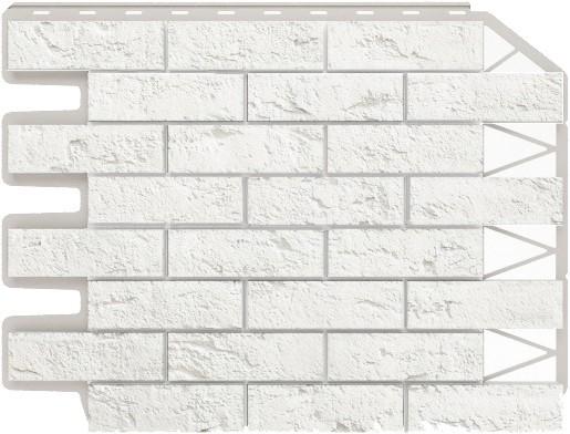 Панель для отделки балконов: кирпич белый безшовный