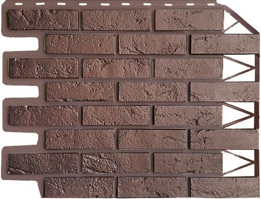 Панель для отделки балконов: кирпич темно-коричневый безшовный