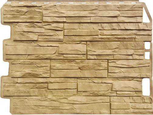 Панель для отделки балконов: скол золотой песок