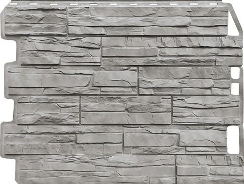 Панель для отделки балконов: скол серый жемчуг