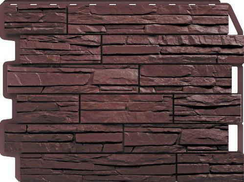 Панель для отделки балконов: скол темно - коричневый