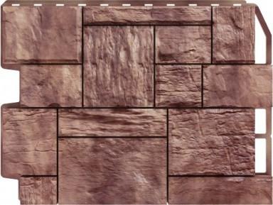 Панель для отделки балконов: туф коричневый