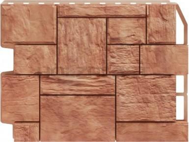 Панель для отделки балконов: туф светло - коричневый
