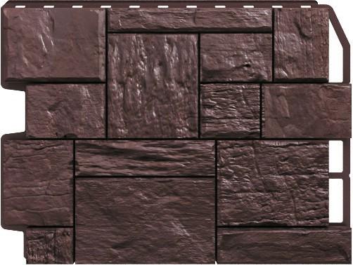 Панель для отделки балконов: туф темно - коричневый