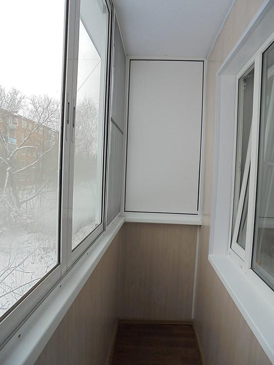 Балкон после ремонта и отделки