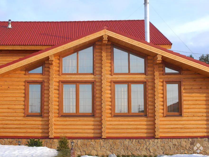Окна - трапеции для загородных домов