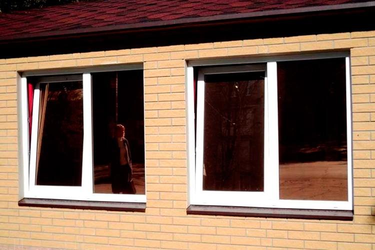 Окна с тонировкой для загородных домов и коттеджей