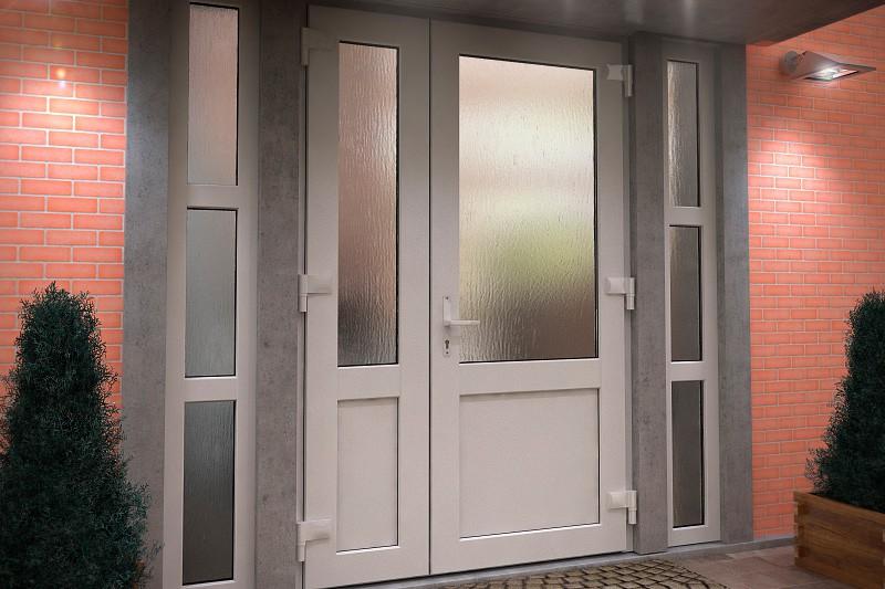 Штульповые распашные двери в коттедж