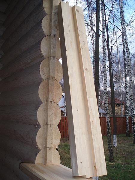 Монтаж окосячки (обсады) в деревянном доме