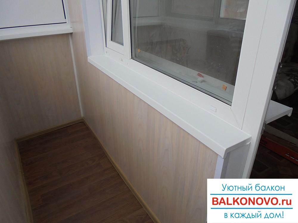 Балкон после остекления, ремонта и отделки