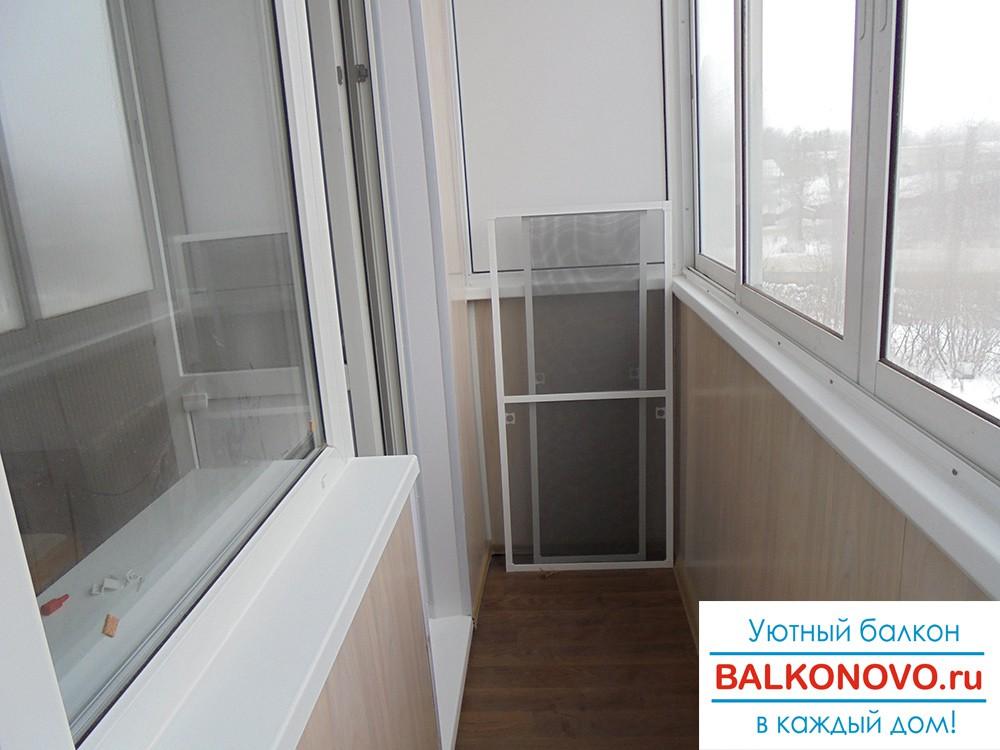 Балкон после остекления и отделки