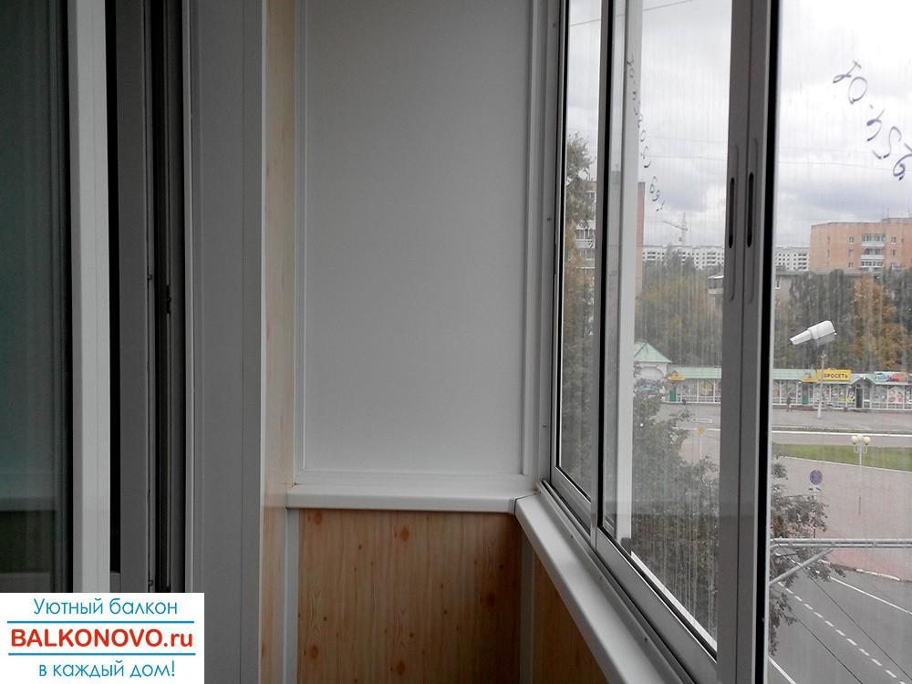 Остекление и отделка балкона в Ступино