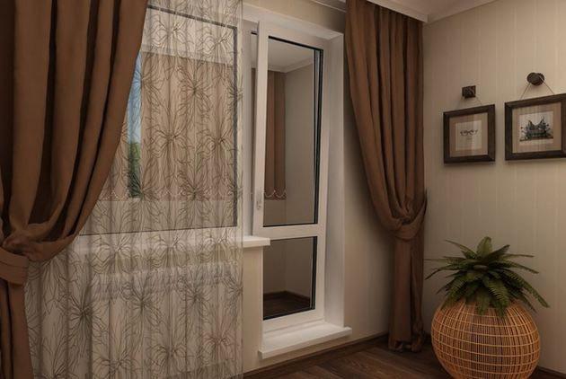 Балконная дверь поворотно - откидная