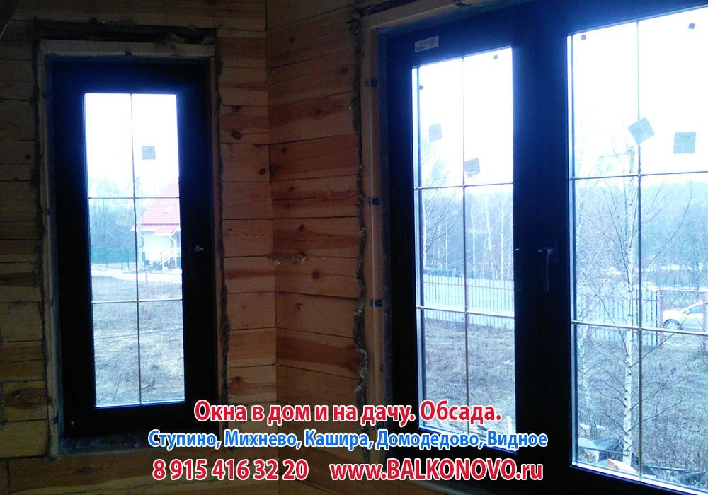 Окна и окосячка в деревянном доме - Ступино, Кашира, Домодедово, Михнево