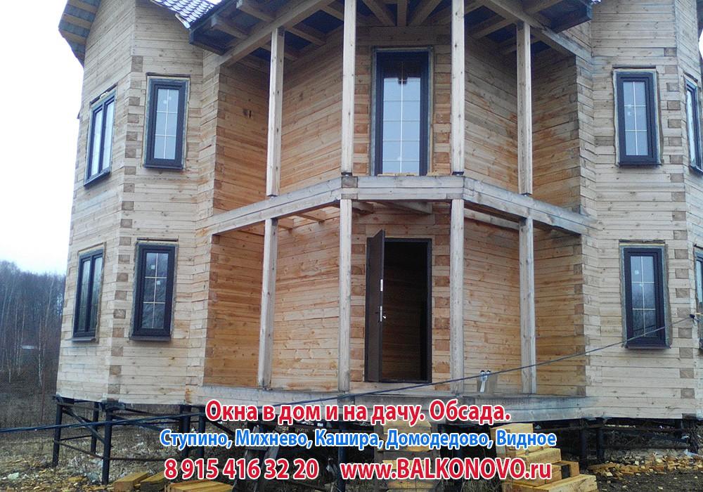 Окосячка и окна в деревянном доме - Ступино