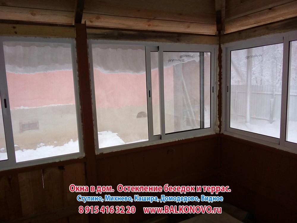 Остекление беседки, окна в беседку - Ступино, Михнево, Кашира, Домодедово, Видное