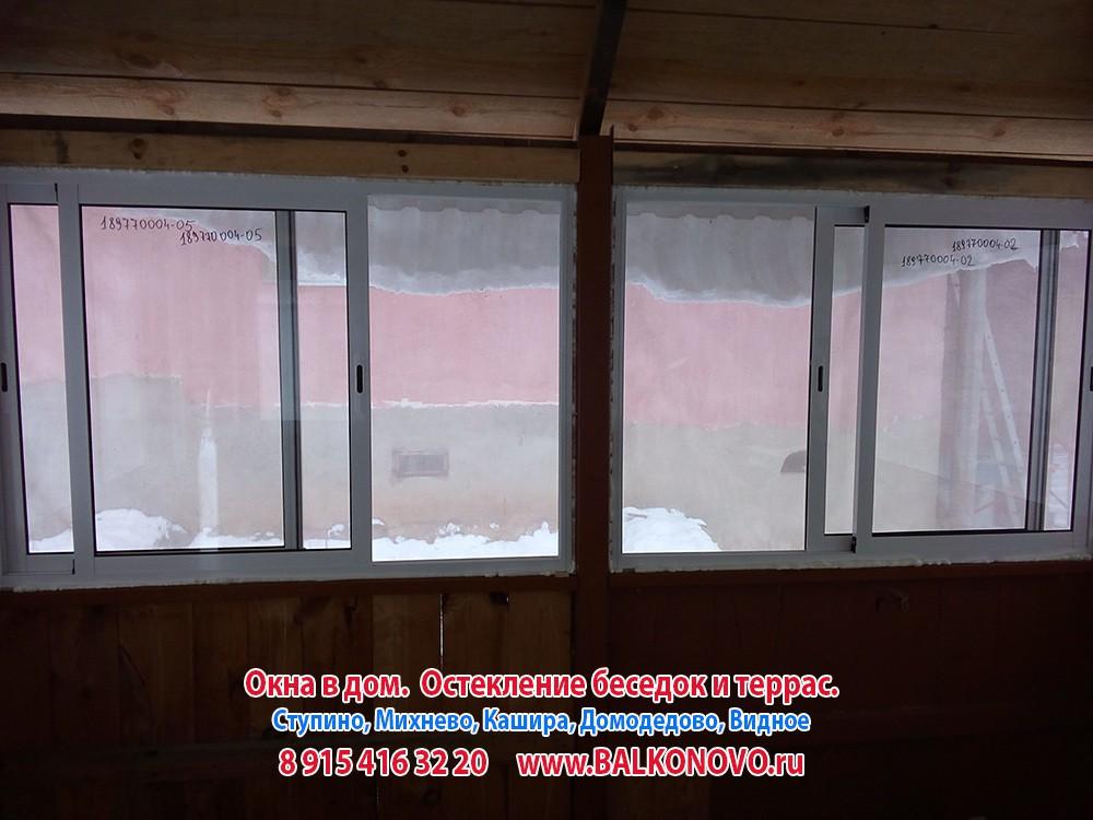 Остекление беседки, окна в беседку - Ступино