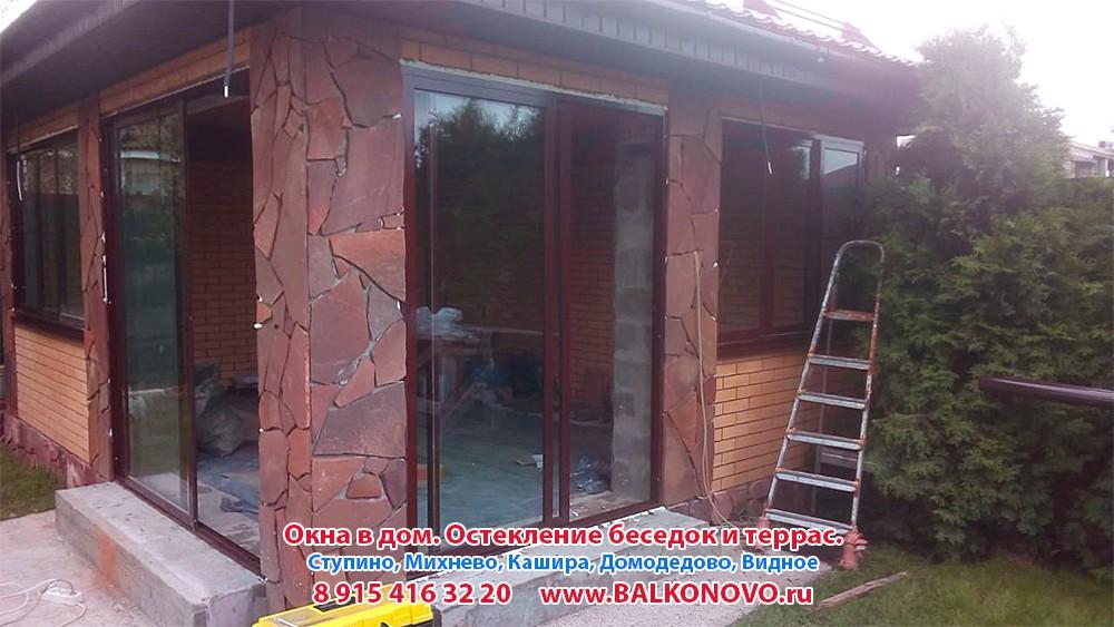 Окна в беседку (остекление беседки) в Домодедово