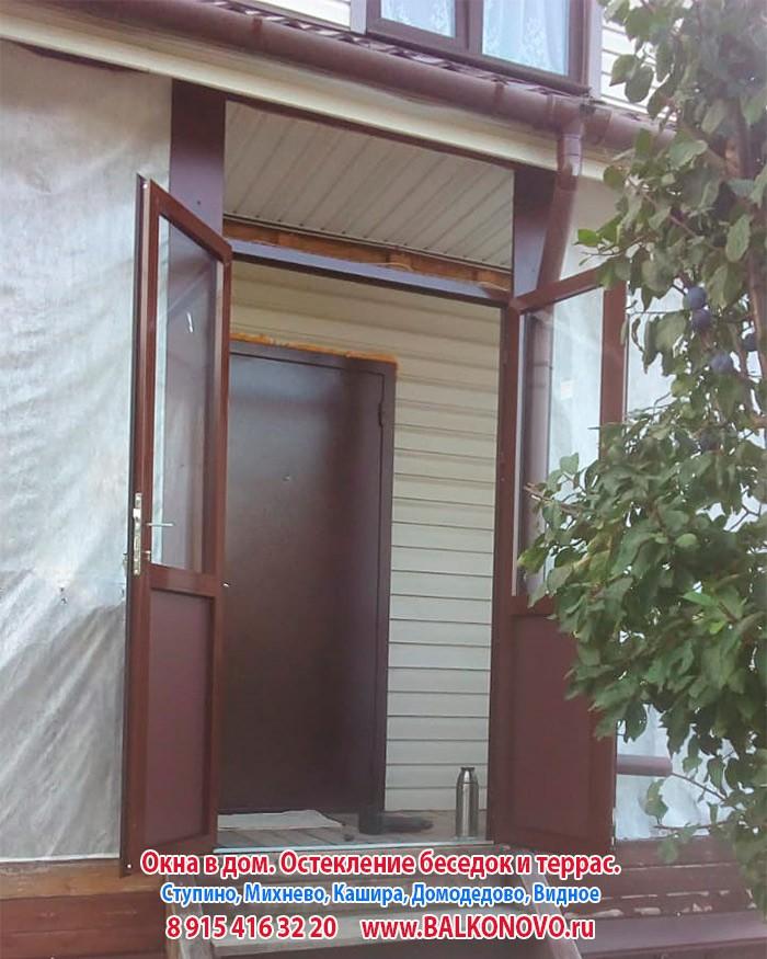 Остекление террасы в Дубнево алюминиевыми окнами