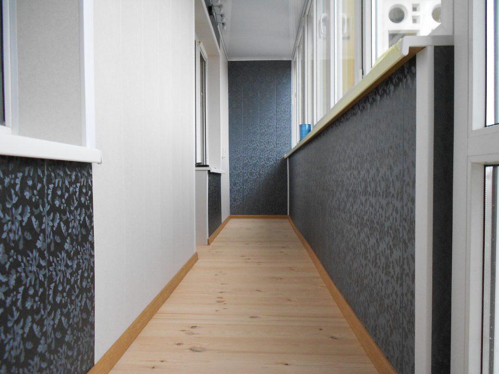 Отделка балкона пластиковыми панелями (панелями ПВХ)