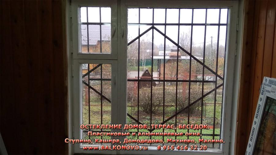 Дом в Раменском районе до остекления пластиковыми окнами REHAU