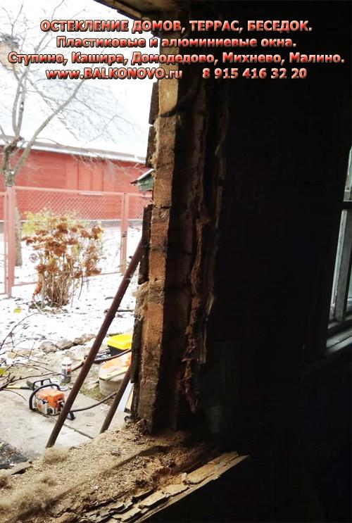 Установка пластиковых окон в старый деревянный дом - Шугарово (Ступино)
